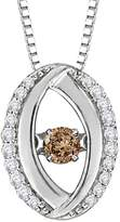 KATARINA Diamond and Center Dancing Diamond Fashion Pendant with Chain in 14K White Gold (1/4 cttw)
