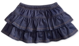 First Impressions Baby Girls' Denim Ruffle Scooter Skirt
