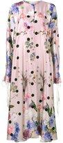 Natasha Zinko floral satin maxi dress