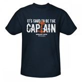 Discovery Deadliest Catch It's Good to Be the Captain T-Shirt - Navy