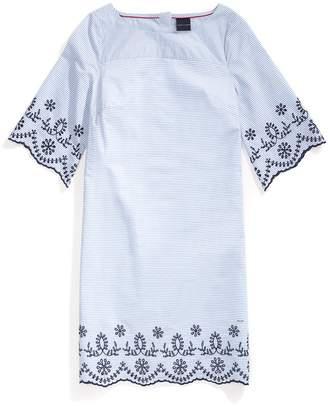 Tommy Hilfiger Stripe Embroidery Dress