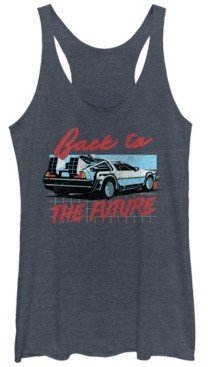 Fifth Sun Back To The Future Delorean Grid Tri-Blend Racer Back Tank