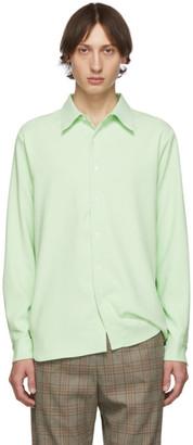 Tibi SSENSE Exclusive Green Classic Shirt