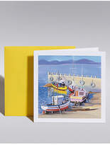 Marks and Spencer Fishing Boats Blank Card