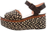 Robert Clergerie Woven Platform Wedges