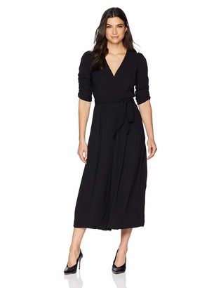 Brinker & Eliza Women's Wide Leg Jumpsuit with Ruched Sleeves