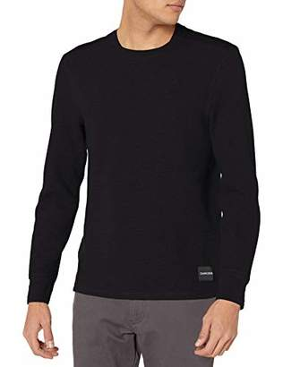 Calvin Klein Men's Long Sleeve Thermal Waffle Crew Neck Shirt
