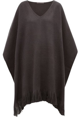 Denis Colomb Fringed Cashmere Poncho - Womens - Grey