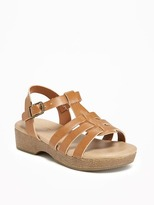 Old Navy Faux-Leather Platform Sandals for Toddler