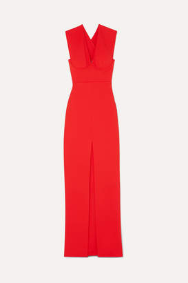 SOLACE London Ziva Crepe Maxi Dress - Red