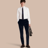 Burberry Slim Fit Cotton Corduroy Trousers