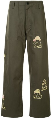 Brain Dead Embroidered Detail Trousers