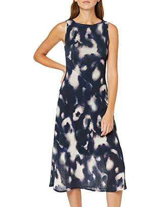 Dorothy Perkins Women's Tie Dye Mesh Sleeveless Midi Dress, Blue (Navy 2), (Size:)