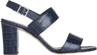 LK Bennett Rhiannon Croc Sandals, Blue