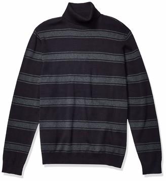 Kenneth Cole Men's Long Sleeve Jersey Stripe Turtleneck Sweater