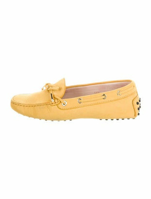 Tod's Leather Loafers Yellow