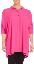 Melissa McCarthy Plus Button-Down Boxy Shirt