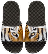 ISlide Tiger Eyes Slide Sandal, White/Black