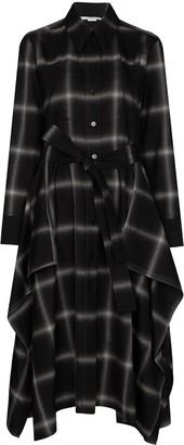 Stella McCartney Leilani check-pattern shirtdress