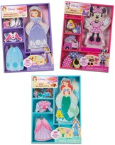Melissa & Doug Disney's Minnie Mouse, Sofia & Ariel Magnetic Dress Up Bundle