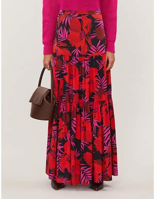 Veronica Beard Serence floral-print stretch-silk maxi skirt