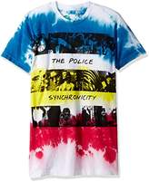 Liquid Blue Men's the Police Sychronicity Tie Dye Short Sleeve T-Shirt