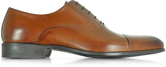 Moreschi Dublin Tan Calf Leather Oxford Shoes w/Rubber Sole