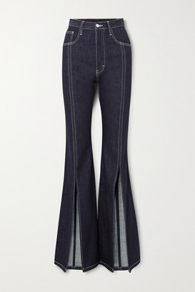 SOLACE London Evelin High-rise Flared Jeans - Mid denim