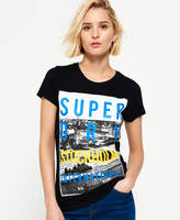 Superdry Box Photo City Stockholm T-shirt