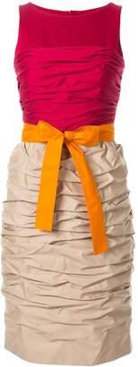 Paule Ka colour-block fitted dress