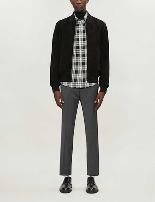 Sandro Alpha wool-flannel tapered-leg trousers