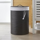 Crate & Barrel Sedona Black Hamper with Liner