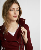 Express Removable Collar Knit Moto Jacket