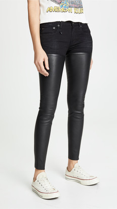 R 13 Leather Chaps Jeans