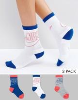 Nike 3 Pack Colour Crew Socks