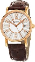 Chronoswiss Classic Brown Leather Strap Silver Dial Rose Gold Automatic Swiss Watch CH-2821LLRCLSI