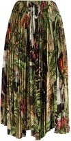 ADAM by Adam Lippes Orchid-print pleated poplin skirt