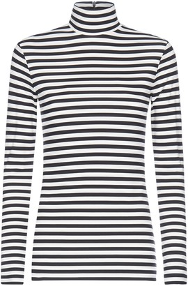 Burberry Striped Turtleneck Long-Sleeved T-Shirt
