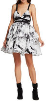 BCBGeneration Floral Print Tiered Skirt Dress