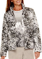 Alfred Dunner Alpine Lodge Long-Sleeve Print Quilted Jacket