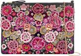Accessorize Folk Floral Ziptop Clutch Bag