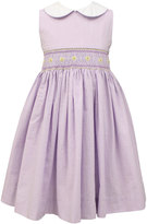 Sorbet Sleeveless Collared Seersucker dress, Lilac/White, Size 4-6X