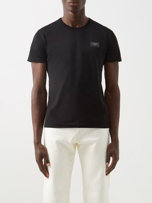 Dolce & Gabbana Logo-plaque Cotton-jersey T-shirt - Black