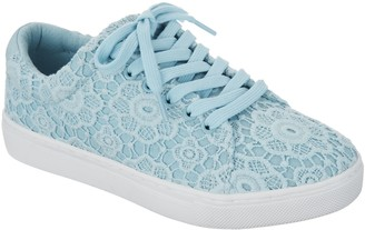 Isaac Mizrahi Live! Crochet Lace-Up Sneakers