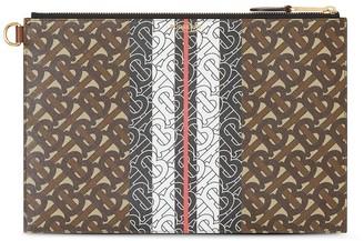 Burberry Monogram Stripe Clutch Bag
