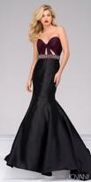 Jovani Strapless Low Back Embellished Waist Trumpet Dress