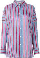 Hache striped shirt - women - Silk/Cotton/Linen/Flax/Viscose - 38
