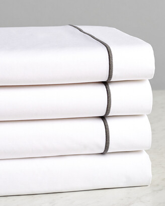 Frette One Bourdon Grey Line Sheet Set