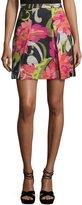 Trina Turk Kael Woven Floral-Print Skirt, Multi