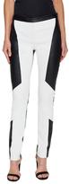 Kimora Lee Simmons Leather Colorblocked Trouser